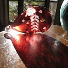 Light on red glass by Catherine Young