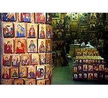 Shop with icons Photographic Print