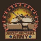 Army Abrams Tanks, Support Our Troops by drasel