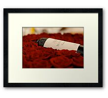 Red wine and roses Framed Print