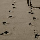 I'll Follow You, Footprints in the Sand by Alex Marshall