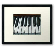 Tinkling of the Keys - still life oil painting - piano Framed Print