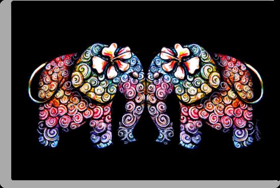 Tattoo Babies elephants by © Karin  Taylor