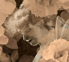Fairy and Echoed/Ghosted Roses in Sepia – February 11, 2010 by Ivana Redwine