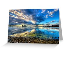 Willow Lake Reflect Blue-Second Look Greeting Card