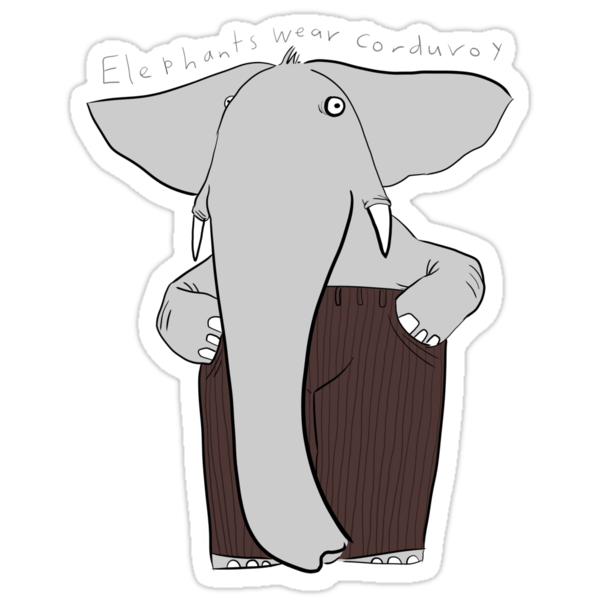 elephants wear corduroy by Paul McClintock