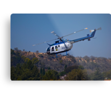 ZS-HUX - Police Helicopter Metal Print