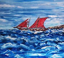 Sailing on Rough Waters  by Mary Sedici