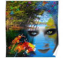 Lady J and Her Colorful Koi Poster