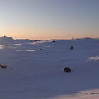 Sunset at my moutain by Annbjrg  Nss