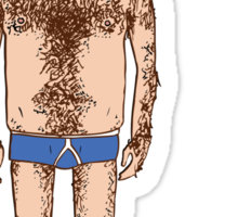 Hairy Man - I am a furry woodland creature. Sticker