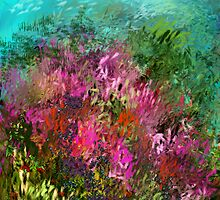 FLOWERS AT WATERS EDGE by Frances Perea