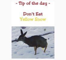Tee - Don't Eat Yellow Snow by Al Bourassa