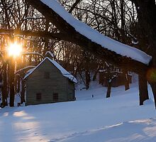 Ephrata Cloister in Winter by Mark Van Scyoc