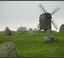 Old time windmill by Heather Thorsen