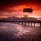 Matarangi Wharf at Sunset by Aaron Radford
