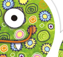 Green Worm Sticker