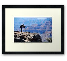 Quiet! Canadian at work. Framed Print
