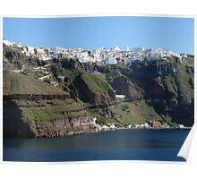 Fira Village of Santorini Greece Poster