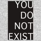 You Do Not Exist by silentnoise