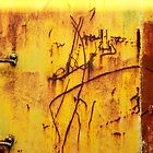 Abstract in Yellow - Train texture, Perris CA by Larry3