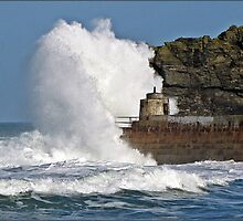 """"""" 4 hours after High Tide & it's still rough"""" by Malcolm Chant"""