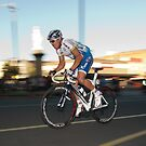 Another day in the office - Robbie McEwen by Evan Schoo
