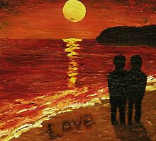Love on the beach by Matthew Rogers