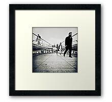 Walking Millenium Bridge Framed Print