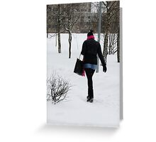 GO in SNOWING Greeting Card