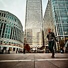 Business On Canada Square by Frank Waechter