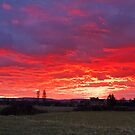 Fiery Skies over Chilton Trinity by kernuak