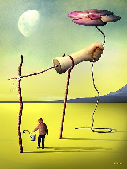 Regando a Flor by Marcel Caram