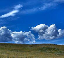 Blues sky and landscape by Roma Czulowska