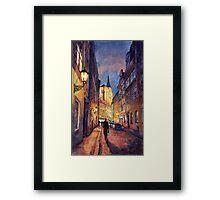 Prague Husova street Framed Print