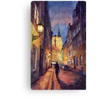 Prague Husova street Canvas Print