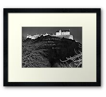 Poetry On Castle Rock Framed Print