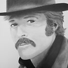 The Sundance Kid- Robert Redford by Ron Griggs