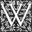 "Art Nouveau ""W"" (William Morris inspired) by Donna Huntriss"