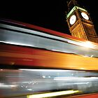 London Bus Blur by FizzyImages