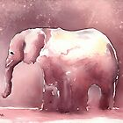 Elephant In Monotone by arline wagner