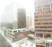 snow storm from the 6th fl window by Deweyreg