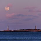 Wolf Moon Rising over Thacher Island by Kamalyn
