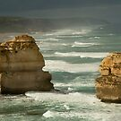 Dark Skies,Twelve Apostles,Great Ocean Road by Joe Mortelliti