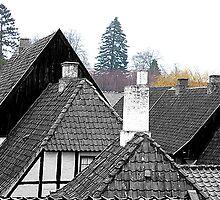Toblerone Rooftops, Aarhus, Denmark. by David Dutton