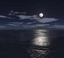 Island in moon light by Beatminister