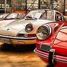 Porsches at an Exhibition by astrolabio