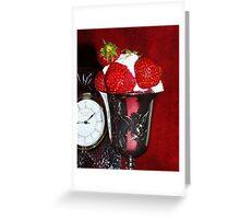 Strawberries & Cream Greeting Card