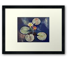 Water Lily Painting Framed Print