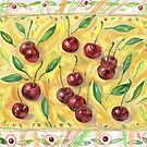 Still life with cherry. by Svetlana Mikhalevich